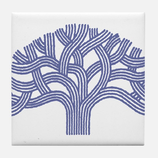 Oakland Blueberry Tree Tile Coaster