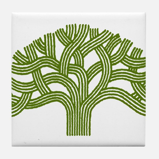 Oakland Oak Tree Tile Coaster