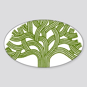Oakland Oak Tree Oval Sticker