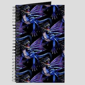 Blue Dragon At Night Journal