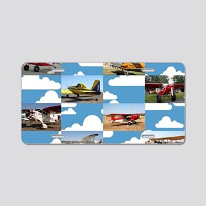Taildragger aircraft collag Aluminum License Plate