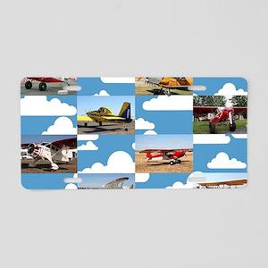 Taildragger aircraft collag Aluminum License Plate
