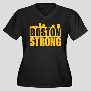 Boston Strong Gold Plus Size T-Shirt