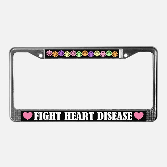 Colorful Heart Disease License Plate Frame