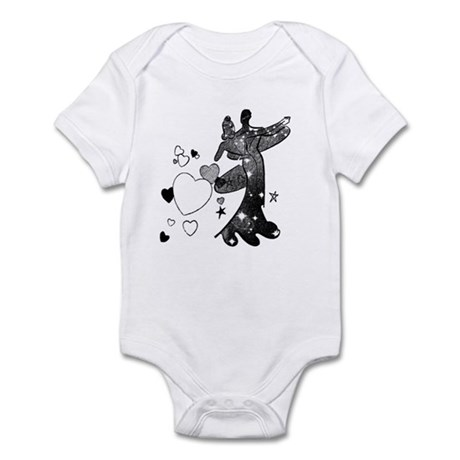 Ballroom Dancers with Hearts Infant Bodysuit