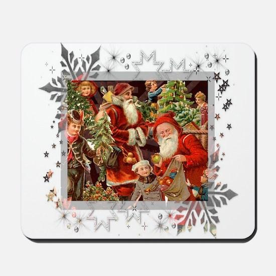 Vintage Christmas Collage Mousepad