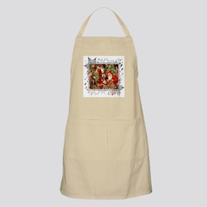 Vintage Christmas Collage BBQ Apron