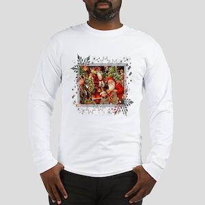 Vintage Christmas Collage Long Sleeve T-Shirt