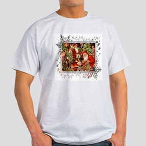 Vintage Christmas Collage Light T-Shirt
