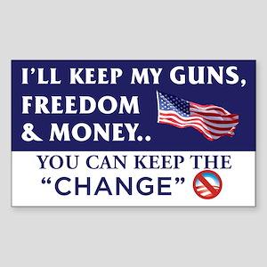 I'll Keep My Guns, Freedom & Money Sticker