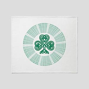 Dorchester, MA Celtic Throw Blanket