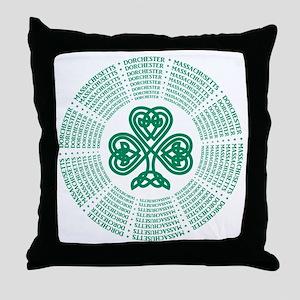 Dorchester, MA Celtic Throw Pillow