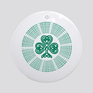 Dorchester, MA Celtic Round Ornament