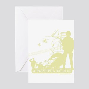 A Faithful Soldier Greeting Card