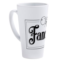 Fancy 17 oz Latte Mug