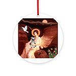 Angel / Min Schnauzer Ornament (Round)