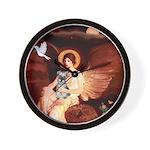 Angel / Min Schnauzer Wall Clock
