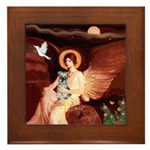 Angel / Min Schnauzer Framed Tile