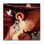Angel / Min Schnauzer Tile Coaster