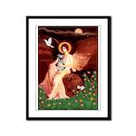 Angel / Min Schnauzer Framed Panel Print