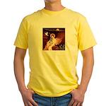 Angel / Min Schnauzer Yellow T-Shirt