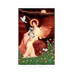 Angel / Min Schnauzer Sticker (Rectangle 50 pk)