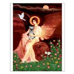 Angel / Min Schnauzer Small Poster