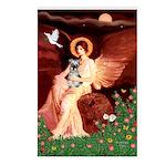 Angel / Min Schnauzer Postcards (Package of 8)