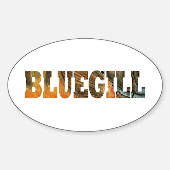 Bluegill Fishing Sticker (Oval)