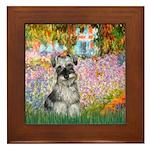 Garden / Miniature Schnauzer Framed Tile