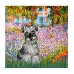 Garden / Miniature Schnauzer Tile Coaster