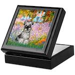 Garden / Miniature Schnauzer Keepsake Box