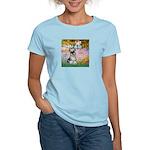 Garden / Miniature Schnauzer Women's Light T-Shirt