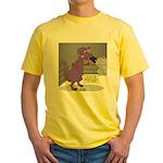 T-Rex Boxing Yellow T-Shirt