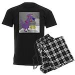 T-Rex Boxing Men's Dark Pajamas