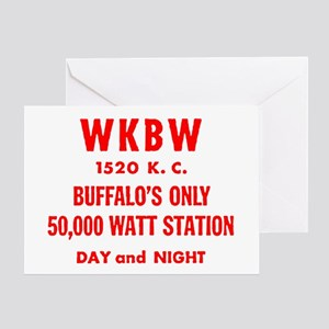 WKBW 1520 Greeting Card