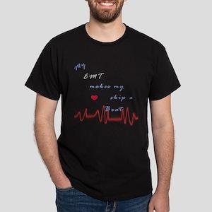 EMT Heart Beat Dark T-Shirt