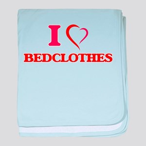 I Love Bedclothes baby blanket