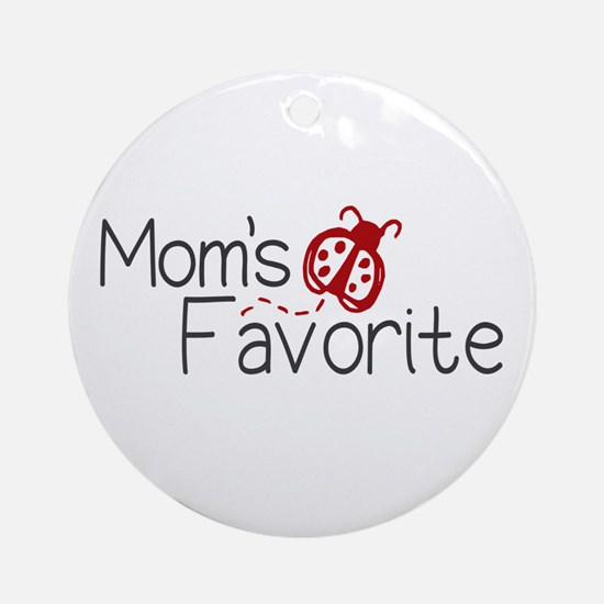 Mom's Favorite Kid Ornament (Round)