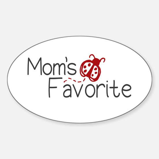 Mom's Favorite Kid Oval Decal