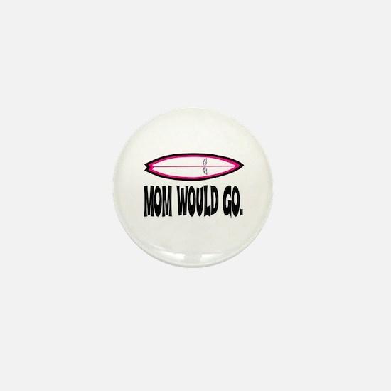 MOM WOULD GO. Mini Button
