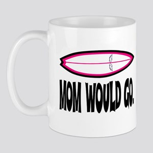 MOM WOULD GO. Mug