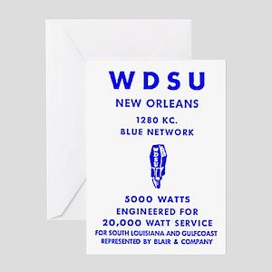 WDSU 1280 Greeting Card