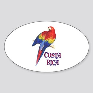 COSTA RICA II Oval Sticker