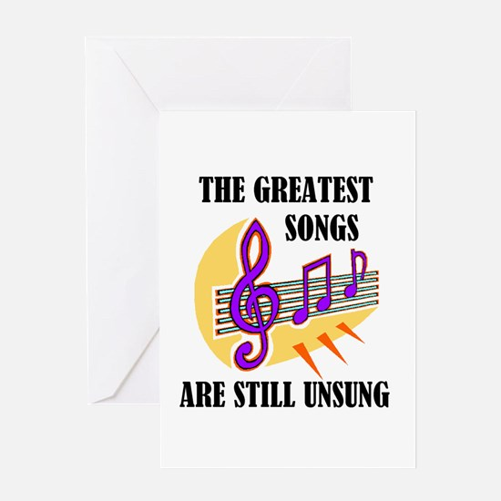 SONGS UNSUNG Greeting Card