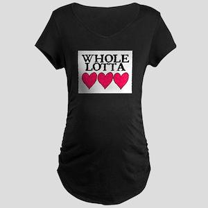WHOLE LOTTA LOVE (HEARTS) Maternity Dark T-Shirt