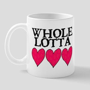 WHOLE LOTTA LOVE (HEARTS) Mug