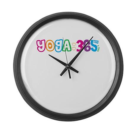365 Yoga Large Wall Clock