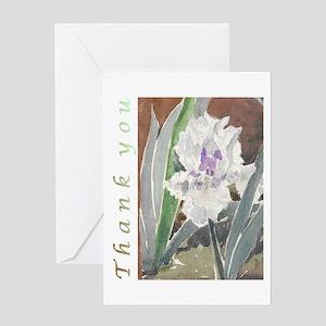 White Iris Thank You Card