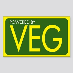 Powered by VEG Rectangle Sticker